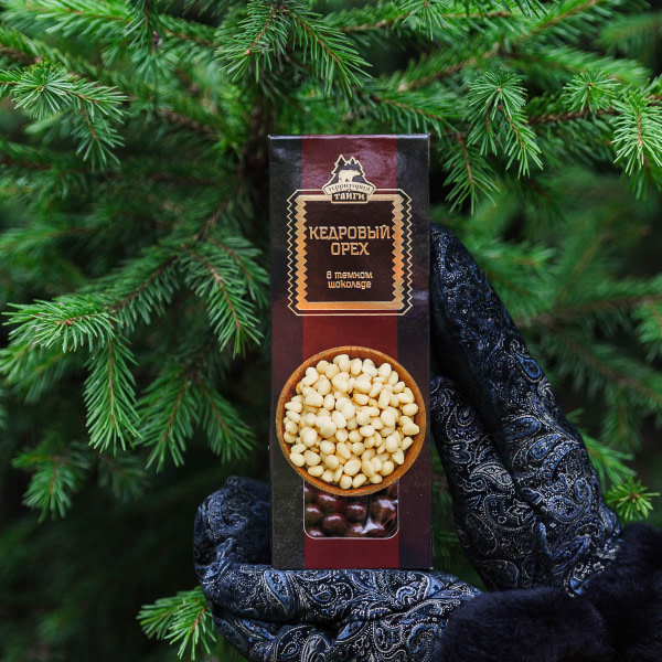 Кедровый орех в тёмном шоколаде 100 гр