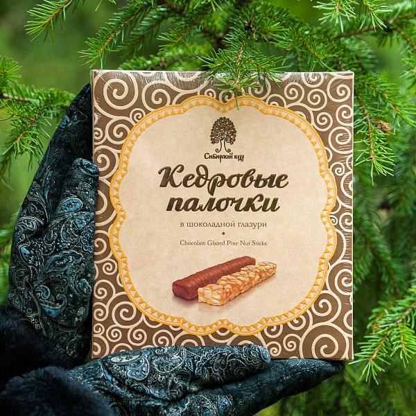 Кедровые палочки в шоколадной глазури 120 гр