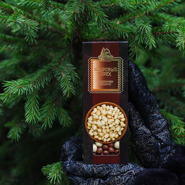 Кедровый орех в шоколаде ассорти 100 гр