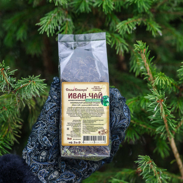 Иван чай ферментированный с листом смородины 50 гр