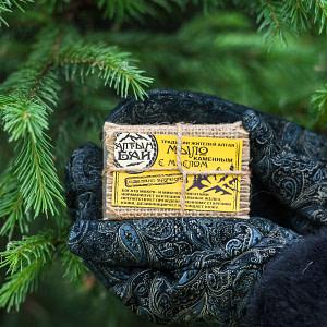 Мыло с каменным маслом Алтын 80 гр