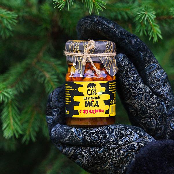 Мёд цветочный с фундуком 210 гр