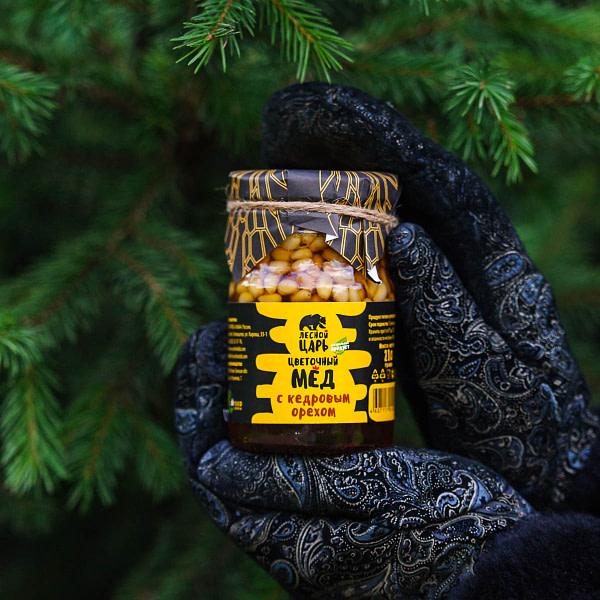 Цветочный мёд с кедровым орехом