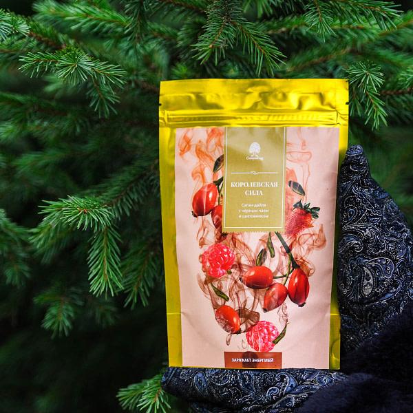 Чайный напиток Саган-дайля с чёрным чаем и шиповником
