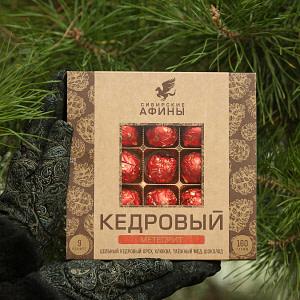 """Кедровый грильяж """"Метеорит с клюквой""""  160 гр"""