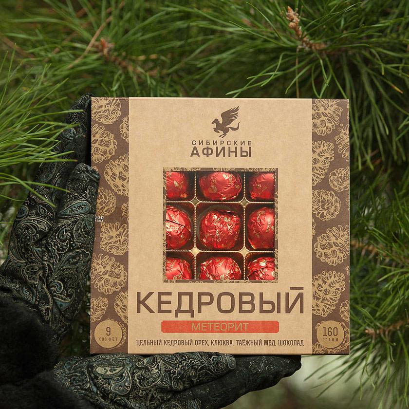 Kedrovyy meteorit 160 g Sibirskie Afiny 1024x1024 - Топ лучших Сибирских конфет