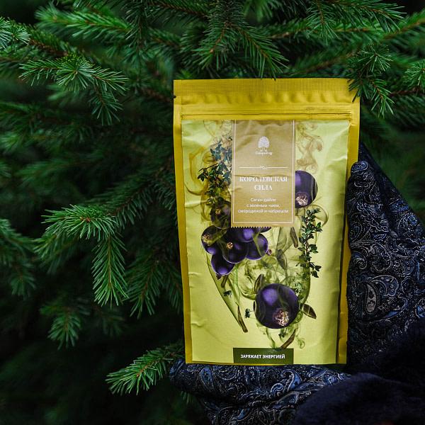 Чайный напиток Саган-дайля с зелёным чаем, смородиной и чабрецом
