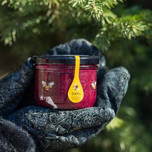 Крем-мёд с черникой и кедровым орехом 220 гр