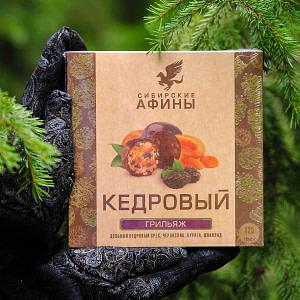 Кедровый грильяж с черносливом и курагой 125 гр