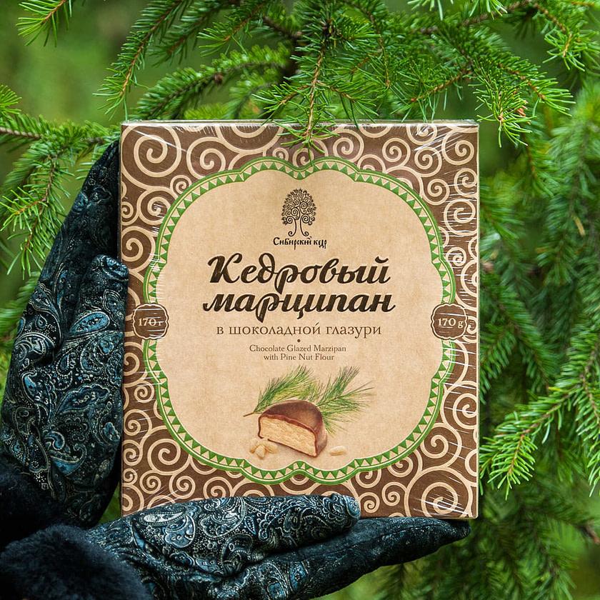Kedrovyy marcipan v shokoladnoy glazuri Sibirskiy Kedr Tomsk 170 gr 1024x1024 - Топ лучших Сибирских конфет