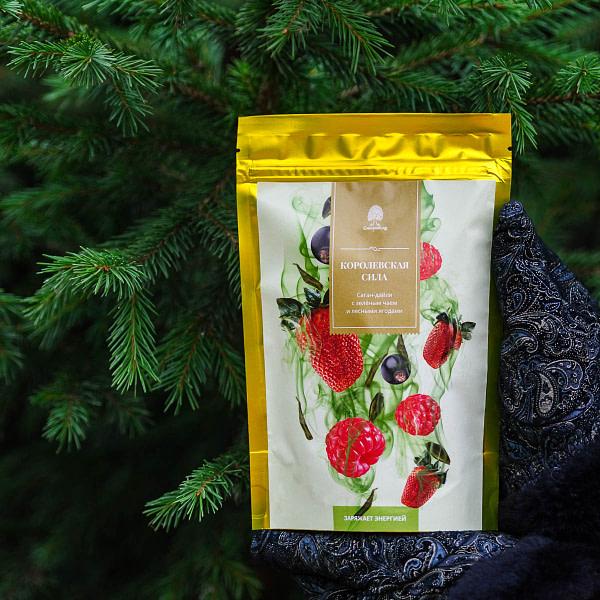 Чайный напиток Саган-дайля с зелёным чаем и лесными ягодами