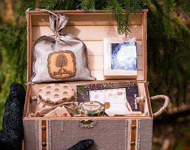 Подарочный набор Сибирский Кедр Сундук вид внутри