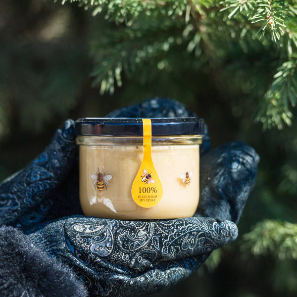 Крем мёд с кедровым орехом 220 гр