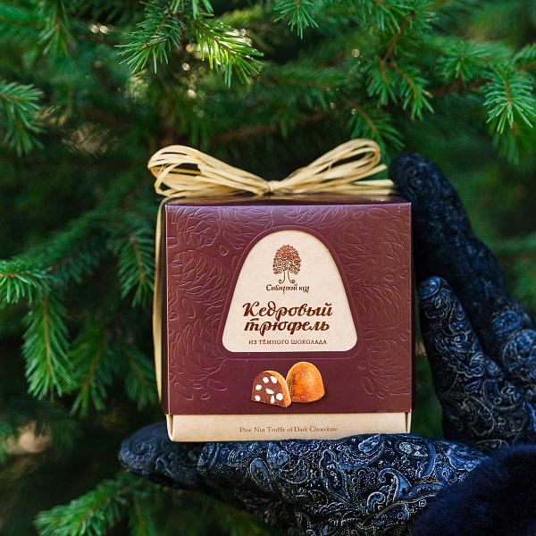 «Кедровый трюфель» из тёмного шоколада 120 гр