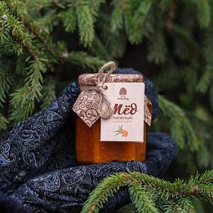Мёд таёжный с облепихой 220 гр